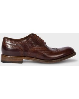 Men's Dip-dyed Bordeaux Calf Leather 'blinky' Brogues