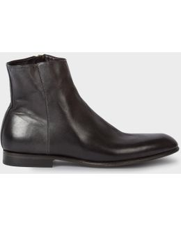 Men's Black Calf Leather 'maurice' Boots