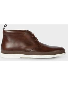 Men's Brown Leather 'inkie' Chukka Boots