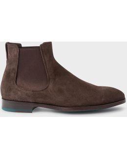 Men's Dark Brown Suede 'myron' Chelsea Boots