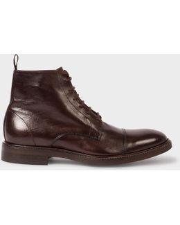 Men's Dip-dyed Dark Brown Calf Leather 'jarman' Boots