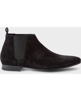 Men's Black Suede 'marlowe' Chelsea Boots