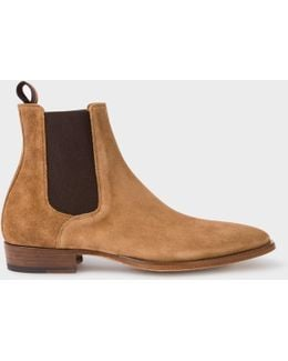 Men's Camel Suede 'bobby' Chelsea Boots