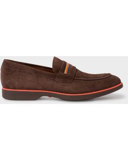 Men's Brown Suede 'bly' Loafers