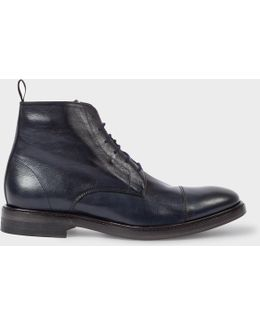 Men's Dip-dyed Navy Calf Leather 'jarman' Boots