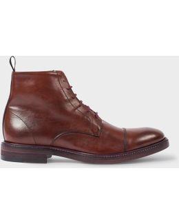 Men's Dip-dyed Bordeaux Calf Leather 'jarman' Boots