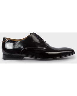 Men's Black Polished Leather 'starling' Shoes