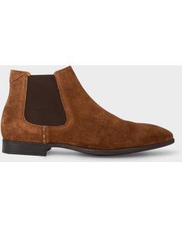 Men's Tan Suede 'falconer' Chelsea Boots