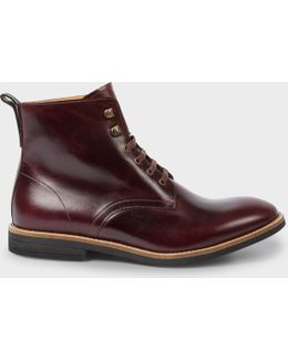 Men's Bordeaux Calf Leather 'hamilton' Boots