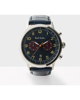 Men's Navy And Petrol 'precision' Chronograph Watch