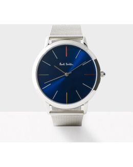 Men's Navy And Silver 'ma' Watch