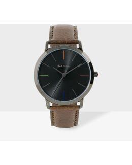 Men's Metallic Black And Brown 'ma' Watch