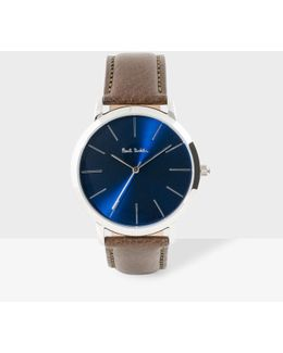 Men's Navy And Brown 'ma' Watch