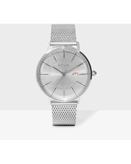 Unisex Silver 'petit Track' Watch