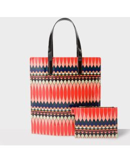 No.9 - Women's Multi-coloured Patent Leather Tote Bag