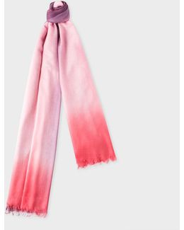 Women's Pink, Red And Purple Dip-dye Cashmere-silk Scarf