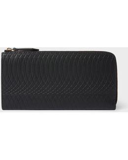 No.9 - Women's Large Black Leather Zip-around Purse