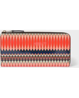 No.9 - Women's Large Multi-coloured Patent Leather Zip-around Purse