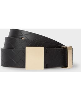 No.9 - Women's Black Leather Belt