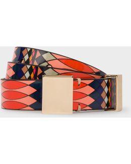 No.9 - Women's Multi-coloured Patent Leather Belt