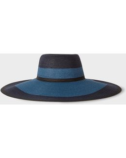 Women's Blue Jute Hat