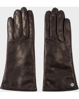 Women's Black Lamb Leather Gloves