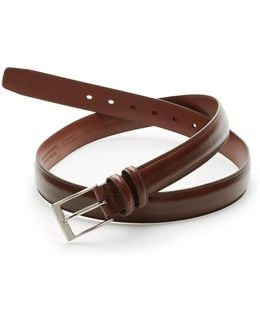 Big And Tall Milled Luggage Leather Belt