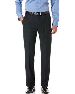 Regular Fit Herringbone Suit Pant