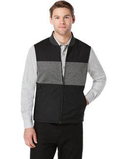 Colorblock Bonded Knit Vest