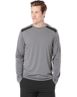 Long Sleeve Solid Colorblock Shirt