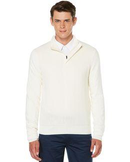 Colorblock Quarter Zip Sweater