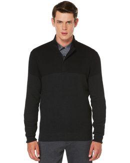 Textured Square Colorblock Sweater