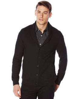 Long Sleeve Textured Shawl Cardigan