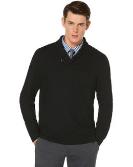 Textured Shawl Pullover Sweater