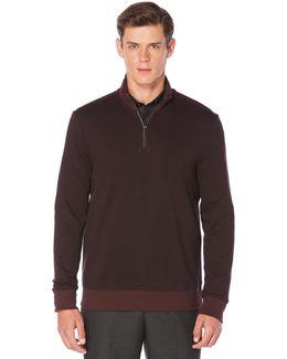Herringbone Quarter Zip Jacket