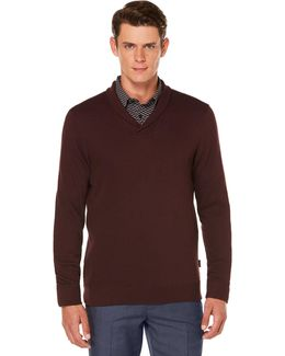 Men's Lightweight Shawl-collar Sweater