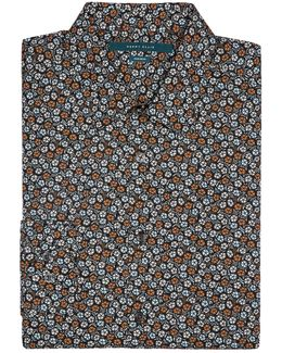Non-iron Stormy Floral Shirt