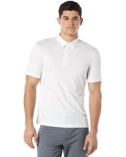 Solid Zip Collar Active Polo