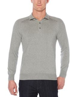 Solid Polo Sweater