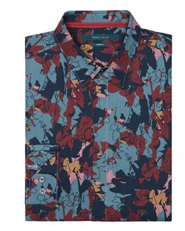 Abstract Multi-color Floral Shirt