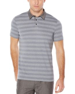 Short Sleeve Jersey Striped Polo