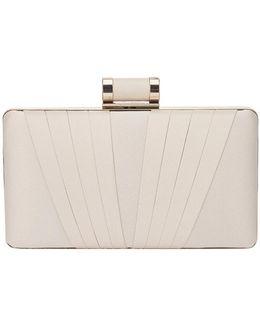 Annie Satin Box Clutch Bag