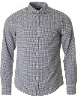 Slim Fit Seersucker Checked Shirt