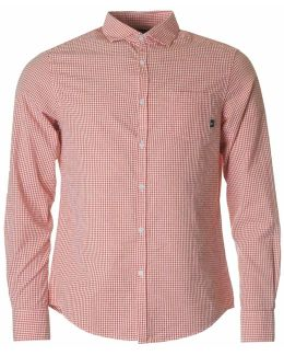 Slim Fit Seersucker Checked Shirt