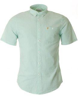 Slone Short Sleeved Seersucker Shirt