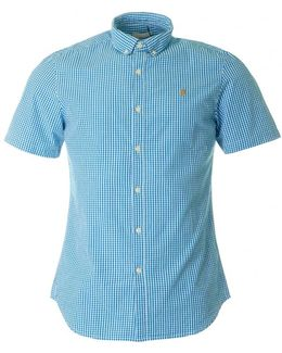 Argyle Short Sleeved Gingham Shirt