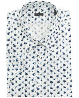 Palm Print Short Sleeved Shirt