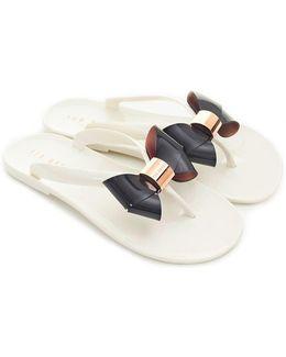 Jelly Bow Flip Flops