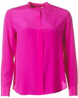 Clarrissa Silk Open Neck Shirt