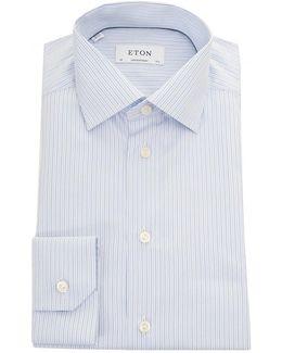 Brighton Poplin Fine Stripe Shirt